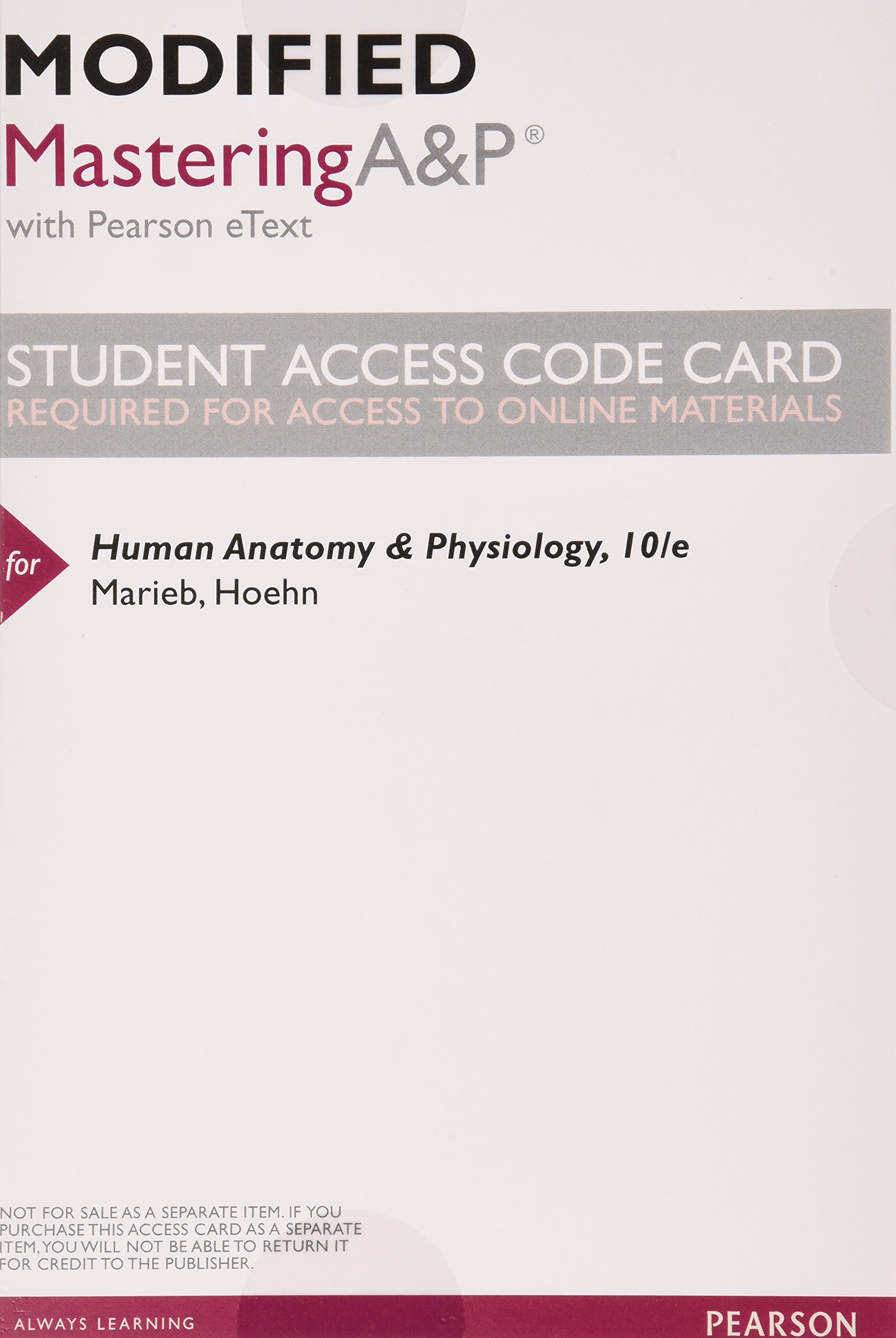 Human Anatomy & Physiology, Books a la Carte Edition 10th Edition ...