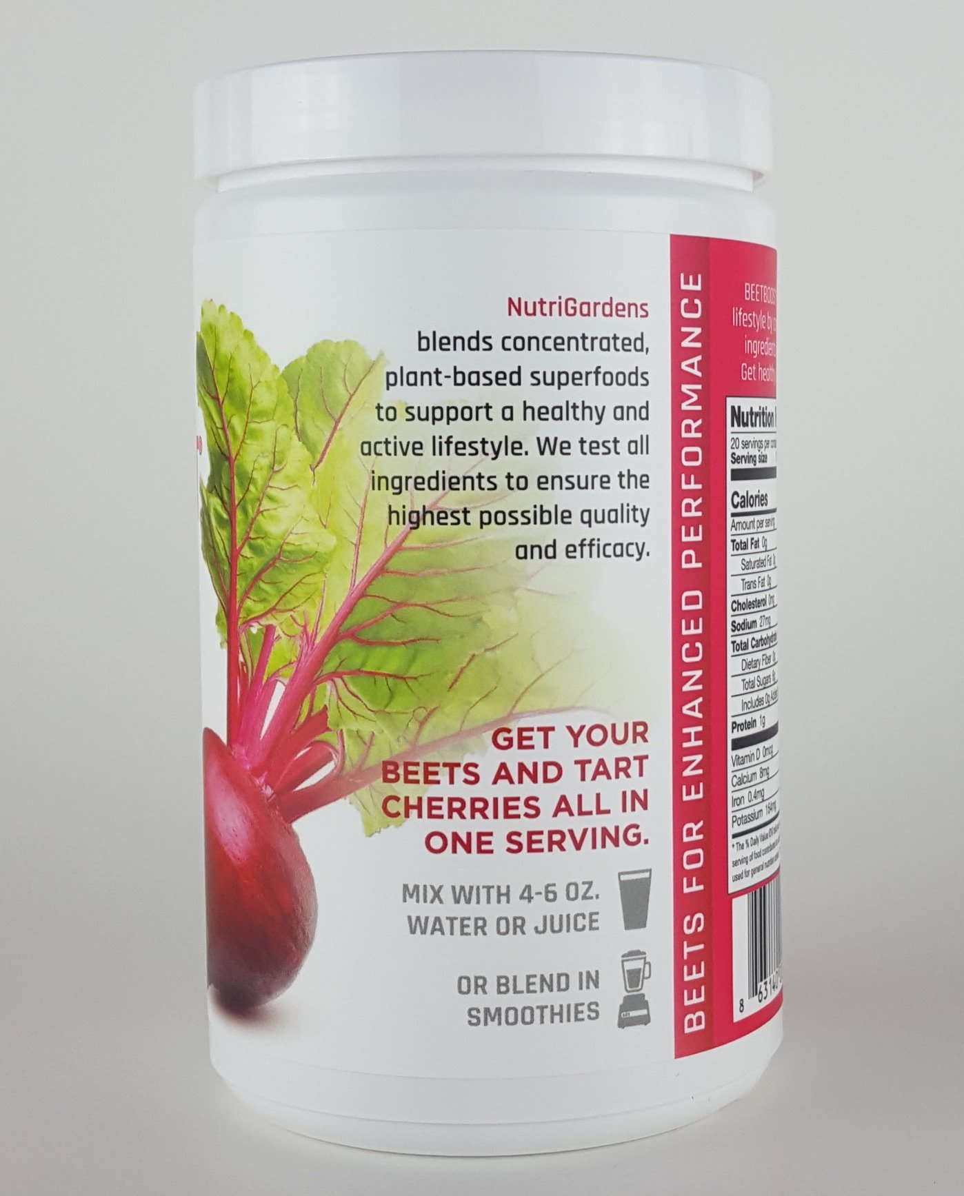 BEET BOOST® for Stamina by NutriGardens - Increase Endurance & Circulation – Concentrated Beets Blended with Tart Cherry for Nitric Oxide BOOST - Reduce Inflammation in Joints & Muscles (7 ounces jar) by Beet Boost (Image #3)