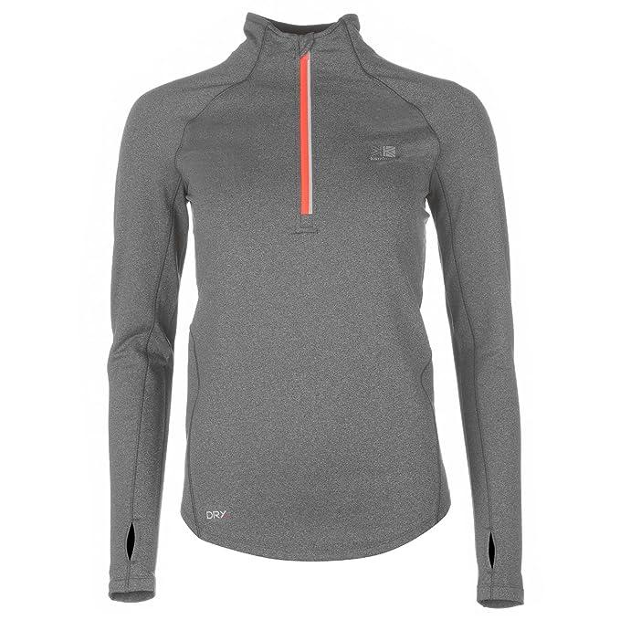 Karrimor Mujer X Lite Top Camiseta de Running Correr Carbón Margoso M (EU 40/