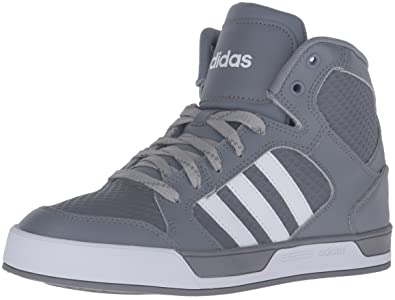 adidas Neo Men's Raleigh Mid Fashion Sneaker, Grey/White/Tech Grey, 10.5