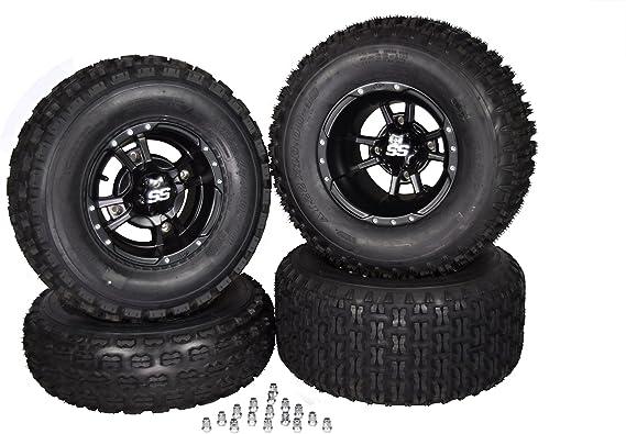 Honda TRX450R & TRX400EX Black ITP SS112 Llantas y ruedas MASSFX de 10 pulgadas