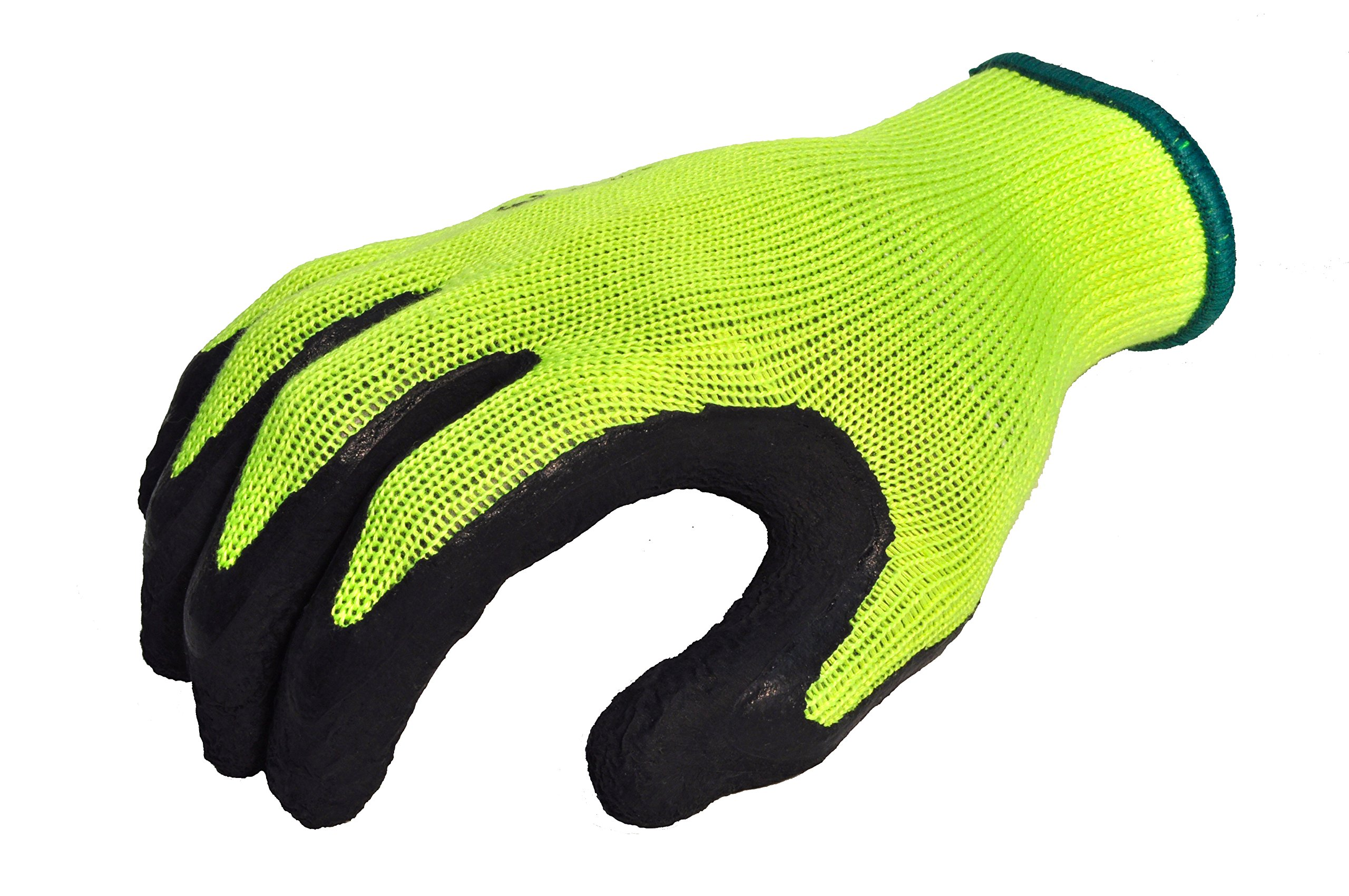 G & F 1516XL-3 Premium High Visibility Work Gloves for General Purpose, MicroFoam Double Textured Latex Coated Work Gloves, Garden Gloves, Men and Women Work Gloves, XLarge, 3 Pair Pack by G & F Products (Image #2)
