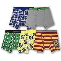 Warner Bros Boys BBP9009 5-Pack Harry Potter Boxer Brief Underwear Underwear - Multi