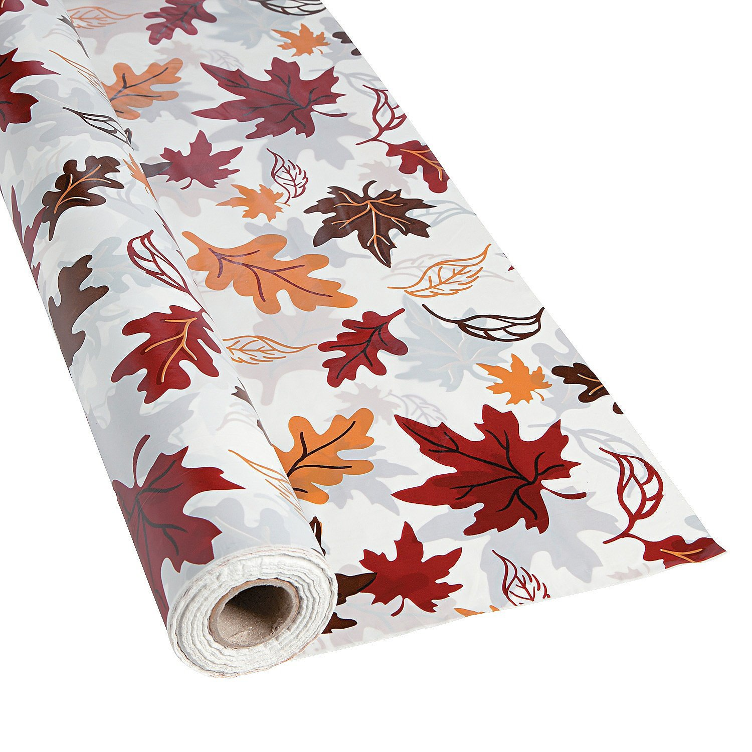 Plastic Fall Leaves Tablecloth Roll   Halloween/Thanksgiving/Autumn Decor:  Kitchen U0026 Dining