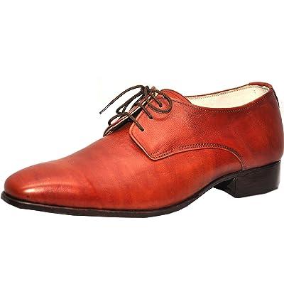 Weber Handmade Oxford Plain Men Brown Leather Shoes