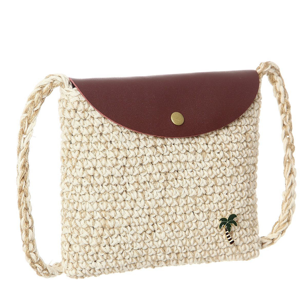 Weave Small Shoulder Handbag Crossbody Straw Bag Cell Phone Purse for Womens Summer style Straw Bag(Yellow)