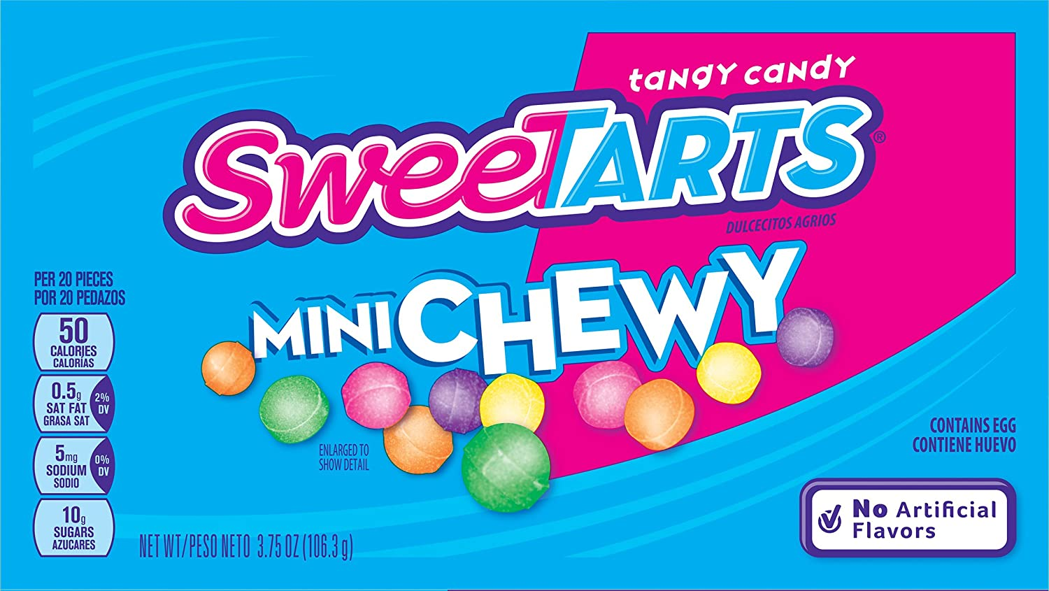 Amazon.com : SweeTARTS Mini Chewy Candy Video Box, 3.75 Ounce (Pack ...