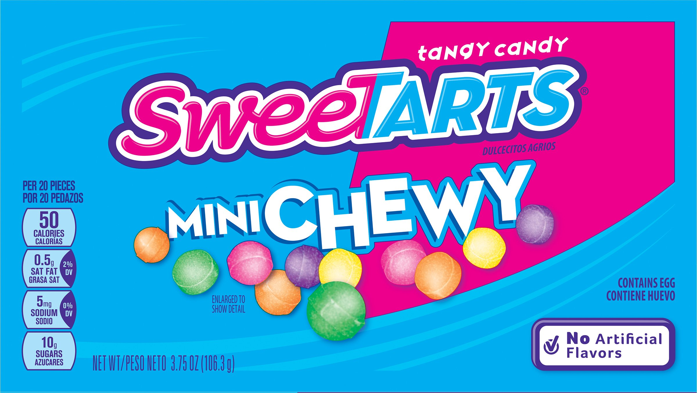 SweeTARTS Mini Chewy Candy Video Box, 3.75 Ounce (Pack of 12) by SweeTARTS