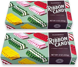 product image for Hammond's Candies – Hand Spun Ribbon Candy - 5 Flavor Variety Pack, 2 Gift Ready Boxes, Handcrafted by Artisan Confectioners- Classically Delicious, Proudly Made in Denver Colorado- USA