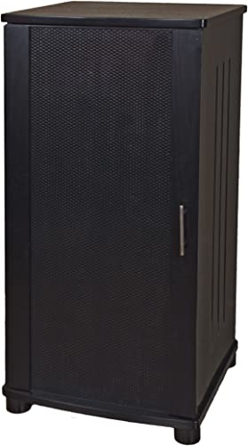 Plateau LSX-A 52 B 52-Inch Wood Audio Stand, Tall, Black Oak Finish