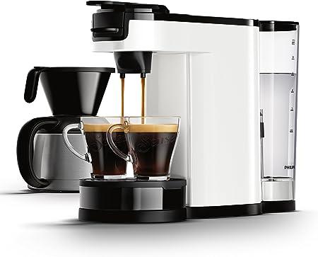 Philips Senseo HD7892/00 - Cafetera (Independiente, Cafetera combinada, 1 L, Dosis de café, De café molido, 1450 W, Blanco): Amazon.es: Hogar