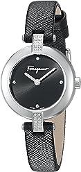 Salvatore Ferragamo Women's Miniature' Swiss Quartz Stainless Steel Casual Watch, Color:Black (Model: FAT040017)