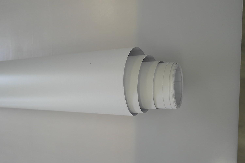 Project One Folien Weiß Matt Autofolie 10 X 1 52 M Selbstklebend Mit Luftkanälen 4 80 Qm Größere Mengen Ab 4 06 Qm Auto