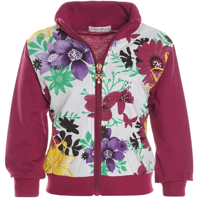 Hoodie Pullover Jacke Baby Mädchen Kinder Stehkragen Sweatjacke 21241 ANGEBOT
