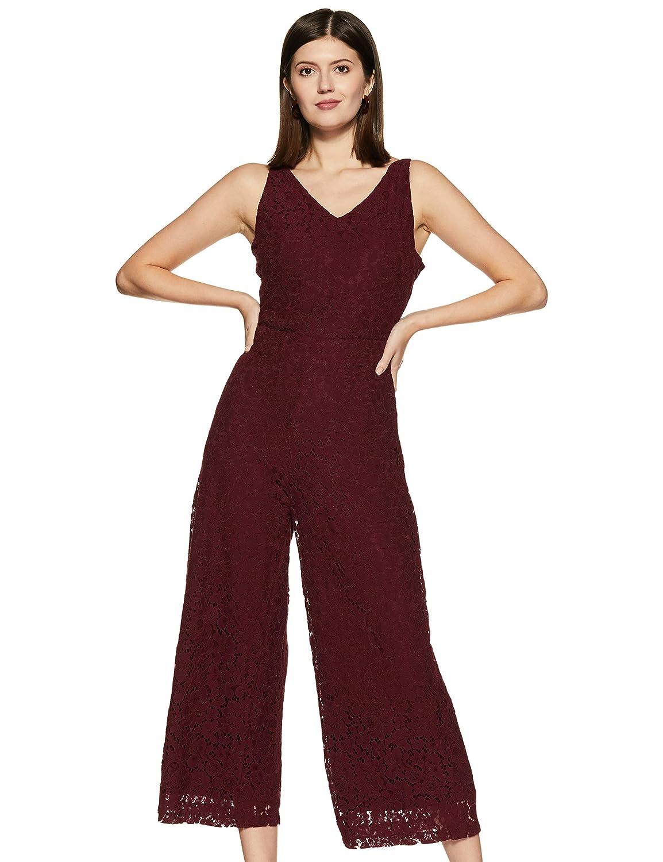 maroon jumpsuit for women