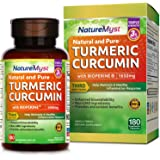 NatureMyst Turmeric Curcumin with Bioperine and 95% Standardized Curcuminoids, 1650mg, 180 Veggie Capsules (180 ct.)
