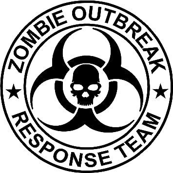 Amazon.com: Zombie Outbreak Response Team NEW DESIGN Die Cut Vinyl ...