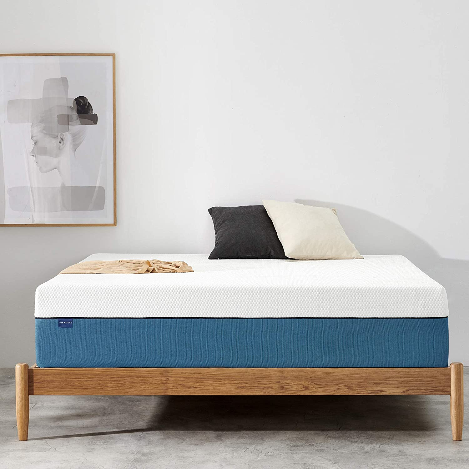 Twin Mattress, Coolvie Twin Size Gel Memory Foam Hybrid Mattress, Individual Pocket Springs with Foam for Back Pain Relief & Cool Sleep, Bed in a Box, 10 Inch, Single Size