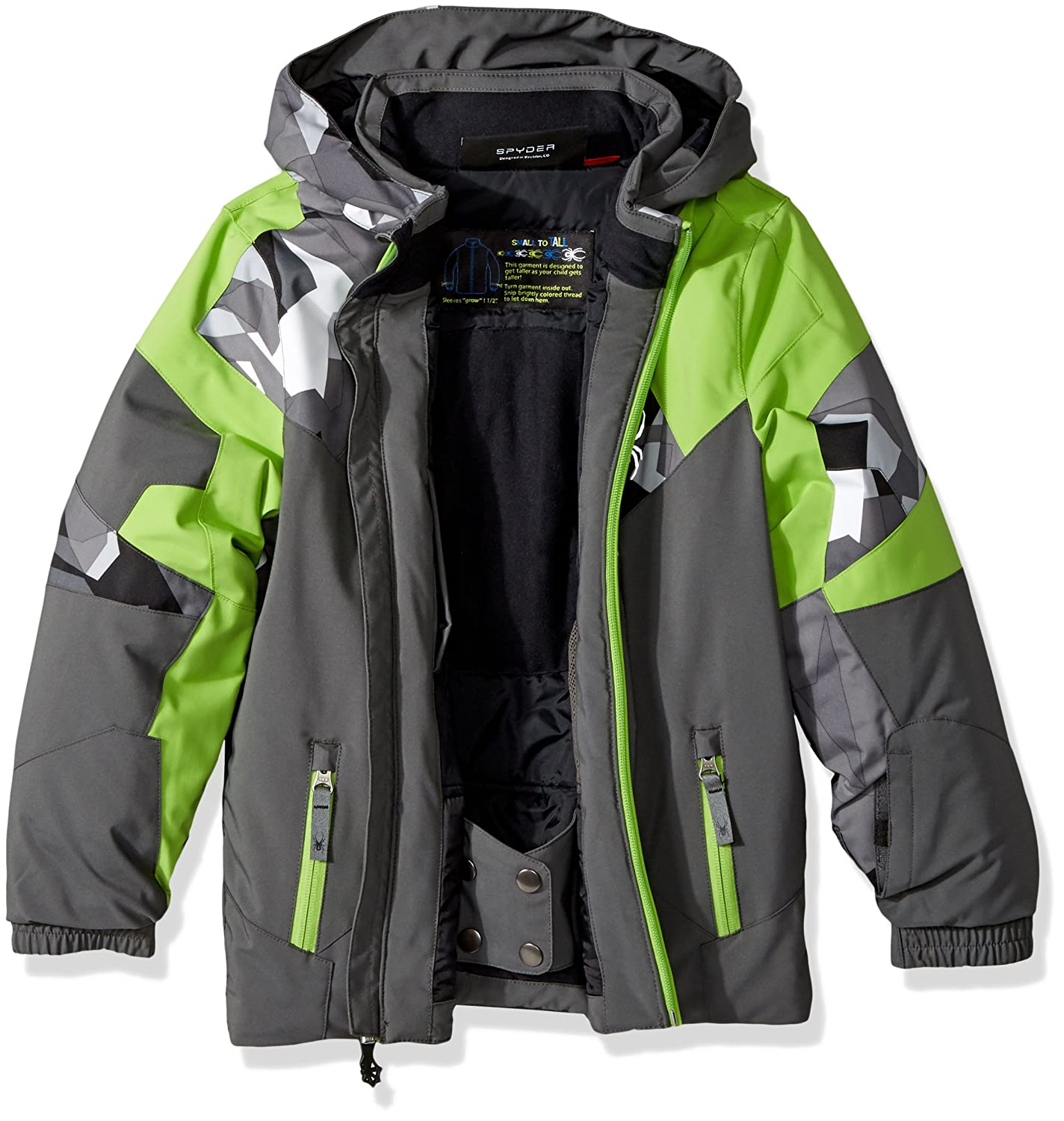 4cd6223793ff Amazon.com   Spyder Mini Leader Ski Jacket   Clothing