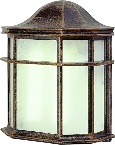 Bel Air Lighting Trans Globe Imports PL-4484 RT Traditional One Light Pocket Lantern from Andrews Collection in Bronze Dark Finish, 4.25 inches, Rust