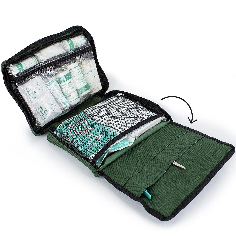 Harley Street Care Kit Profesional de Primeros Auxilios/Kit de Emergencia de 103 Piezas. Kit de Primeros Auxilios Completo, Premium, Compacto y Duradero ...