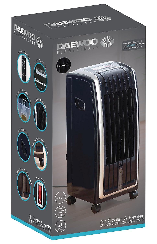 Daewoo Portable 6.5L 4-in-1 Air Cooler, Fan Heater, Air Purifier & Humidifier - BLACK