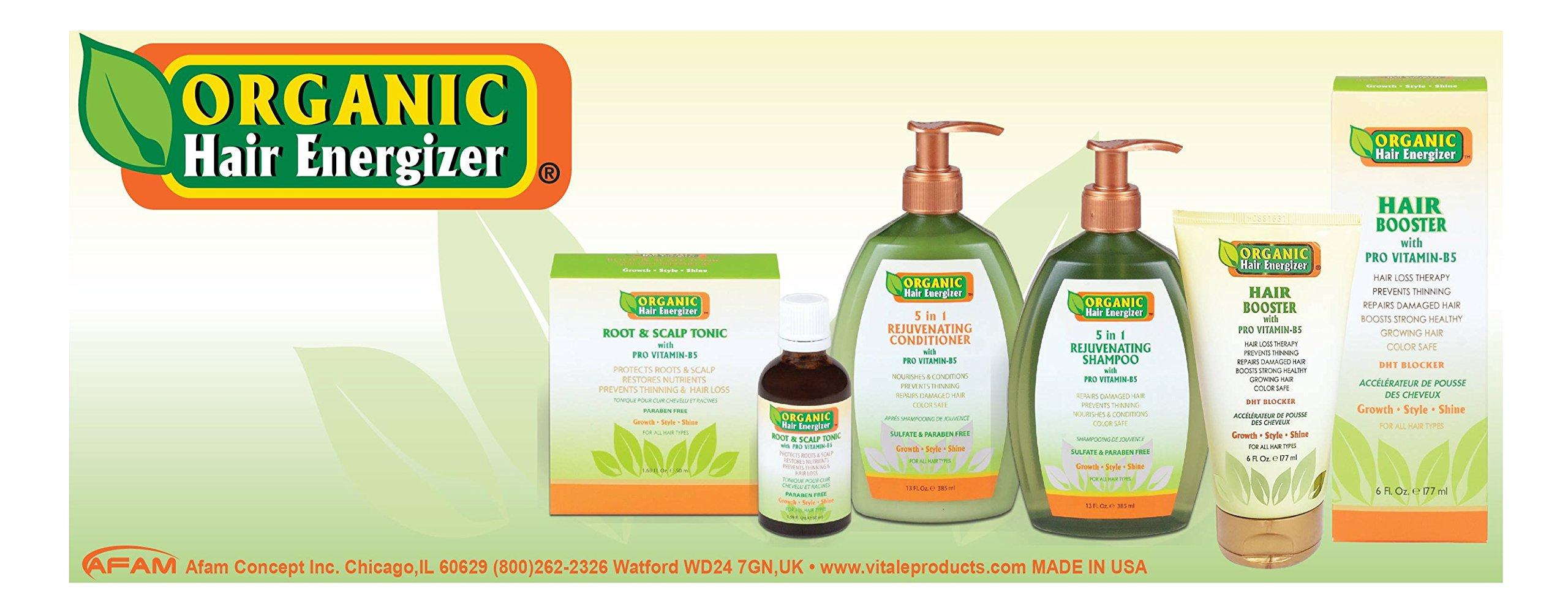 Organic Hair Energizer Root & Scalp Pro Vitamin-B5 Hair Growth Tonic, 1.69 oz | DHT-Blockers, Sulfate-Free & Paraben-Free, Prevent Hair Loss, Thinning & Receding Hair Line | Good For Men & Women by Organic Hair Energizer