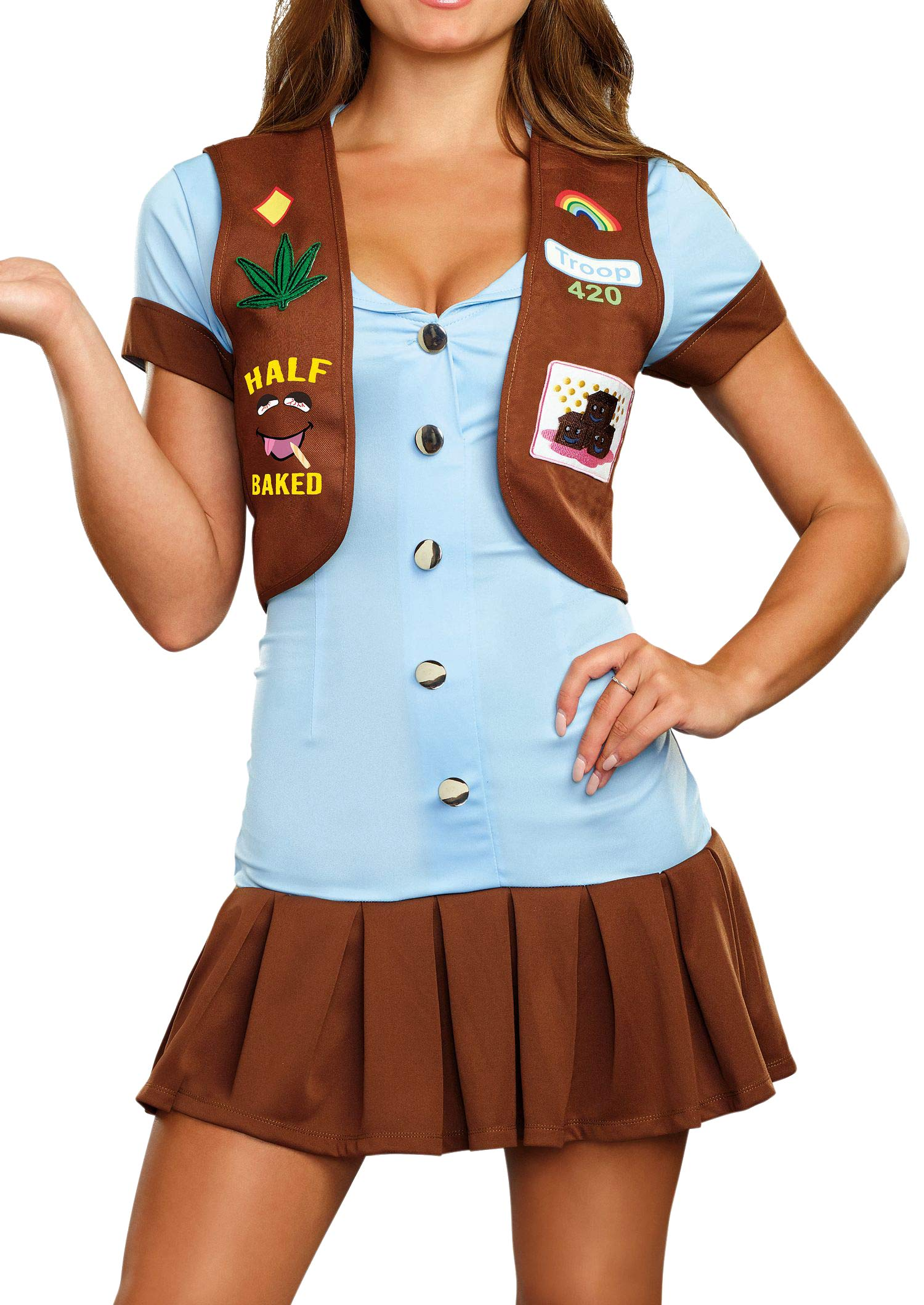 Dreamgirl Women's Cute Half-Baked 420 Scout Costume, Multi, Medium by Dreamgirl