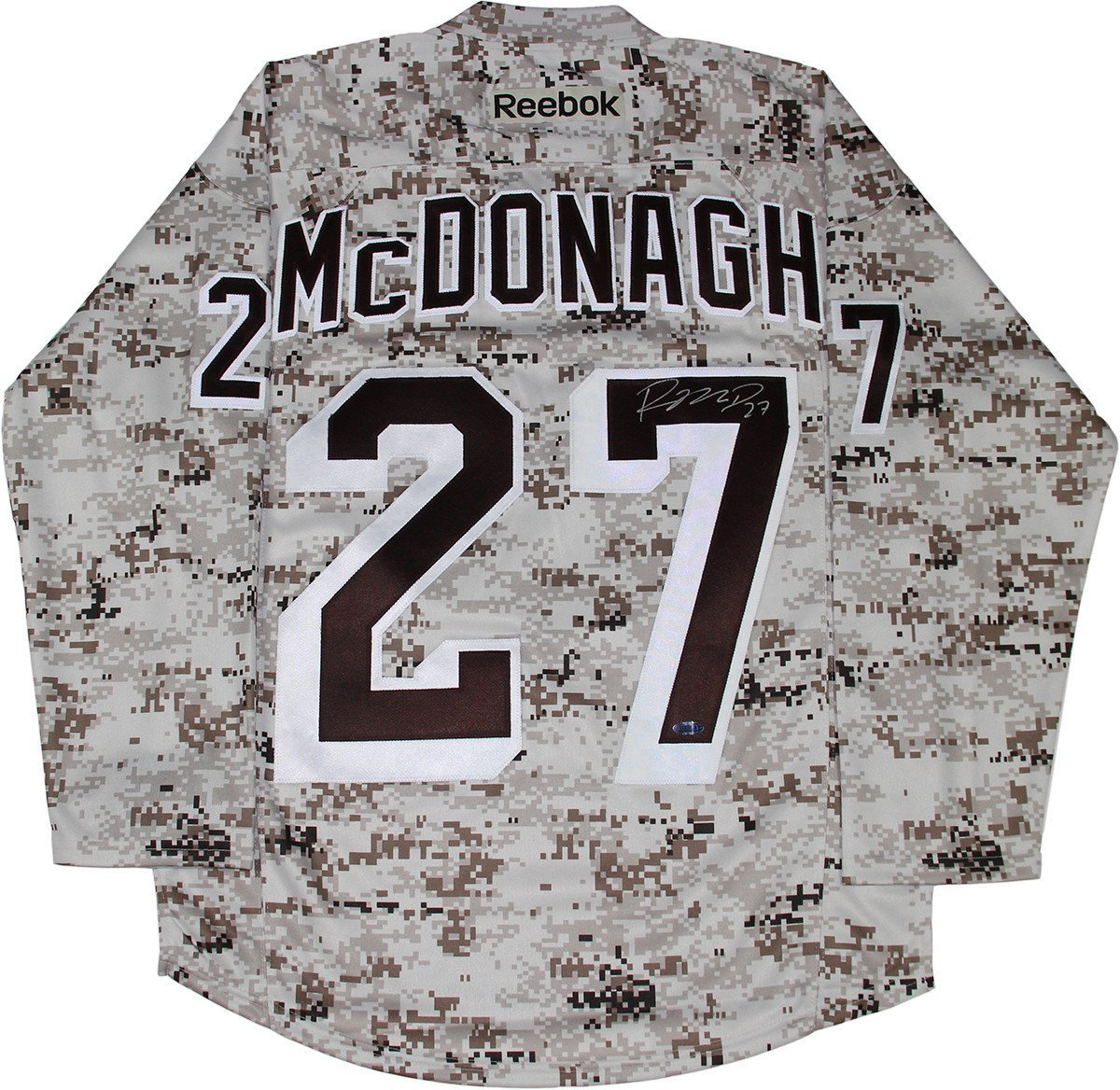 Ryan McDonagh Signed New York Rangers Camo Jersey at Amazon s Sports  Collectibles Store 46f04aa1bda