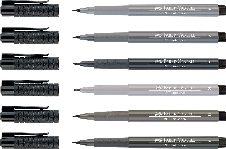Pitt Artists Pen Soft Brush Tip Warm Grey Vi