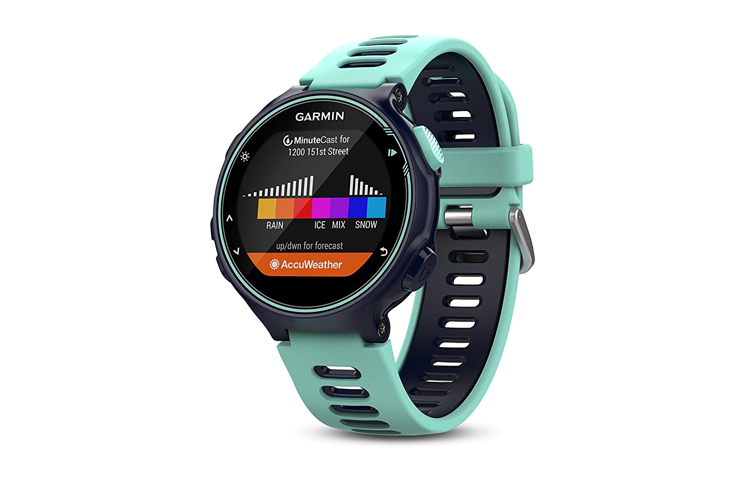 Garmin Forerunner 735xt Bundle Multisport Gps Running Watch With Heart Rate Includes Hrm Run Monitor Midnight Frost Blue
