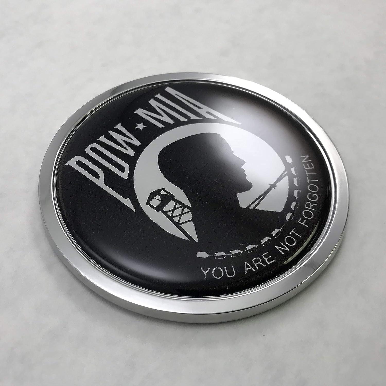 UNITED STATES NAVY 3D Domed Emblem Car Sticker Chrome ROUND Bezel