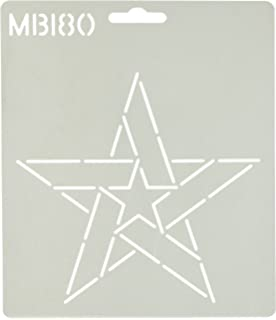 6.5 Five Pointed Star Quilting Stencil by QCI MB95