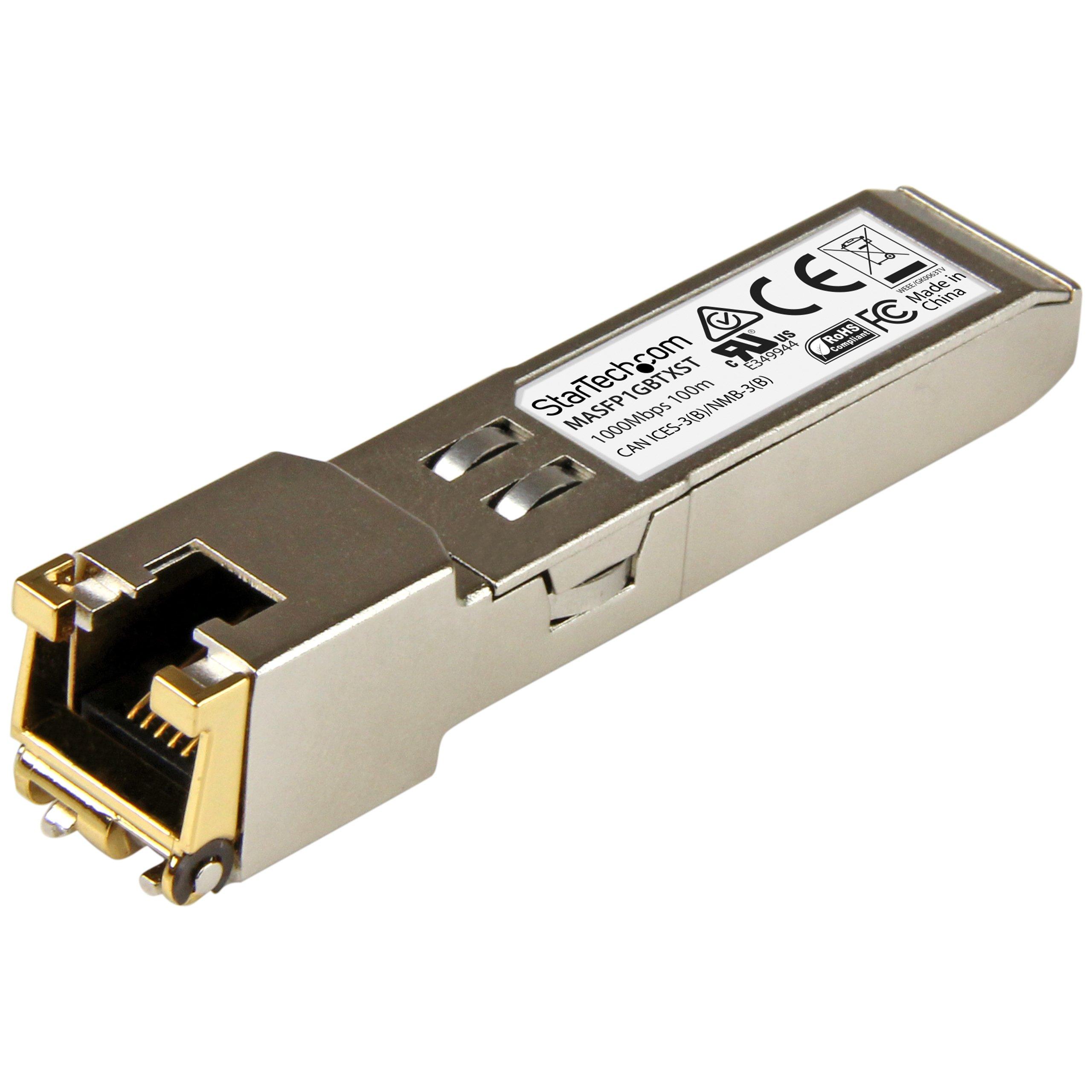 StarTech.com Cisco Meraki MA-SFP-1GB-TX Compatible SFP Module -100BASE-TX RJ45 Copper Transceiver (MASFP1GBTXST) by StarTech