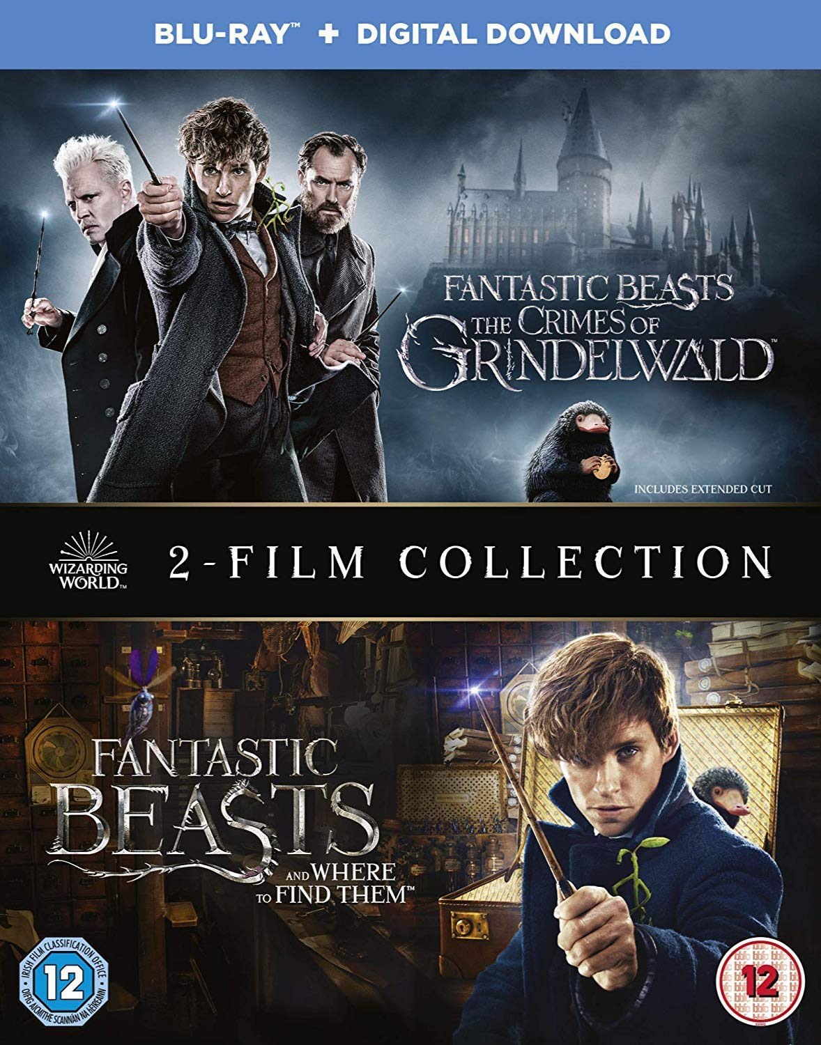 Fantastic Beasts 2 Movies Fantastic Beasts Where To Find Them Fantastic Beasts The Crimes Of Grindelwald Blu Ray Bonus Disc Digital Download 3 Disc Slipcase Fully Packaged Import