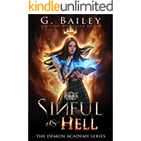 Sinful As Hell: A Reverse Harem Bully Romance (The Demon Academy Book 1) book cover
