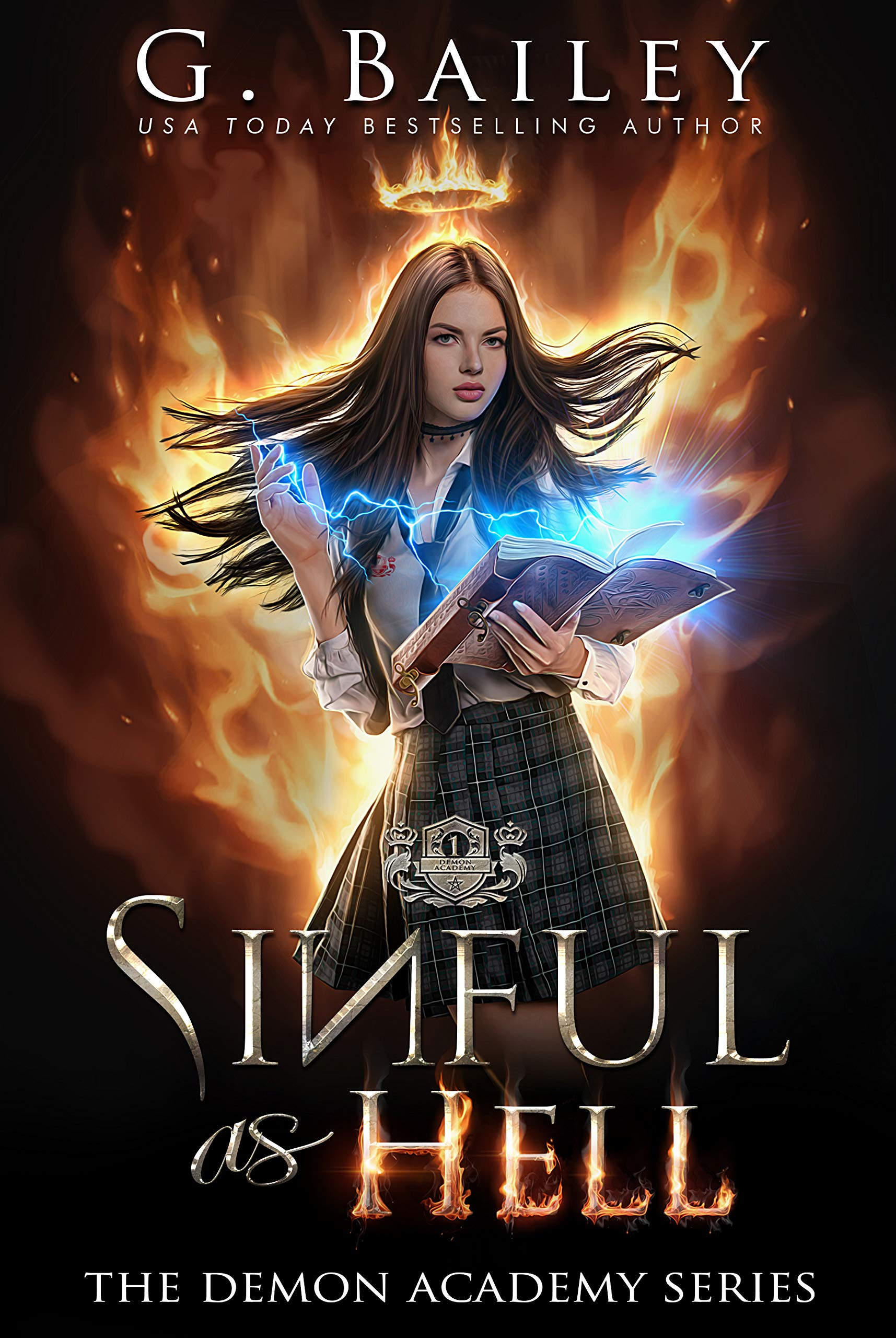 Sinful As Hell  A Reverse Harem Bully Romance  The Demon Academy Book 1   English Edition