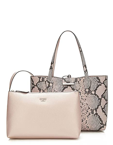 GUESS bolso reversible serpiente shopper rosa Bobbi (Única - Rosa)
