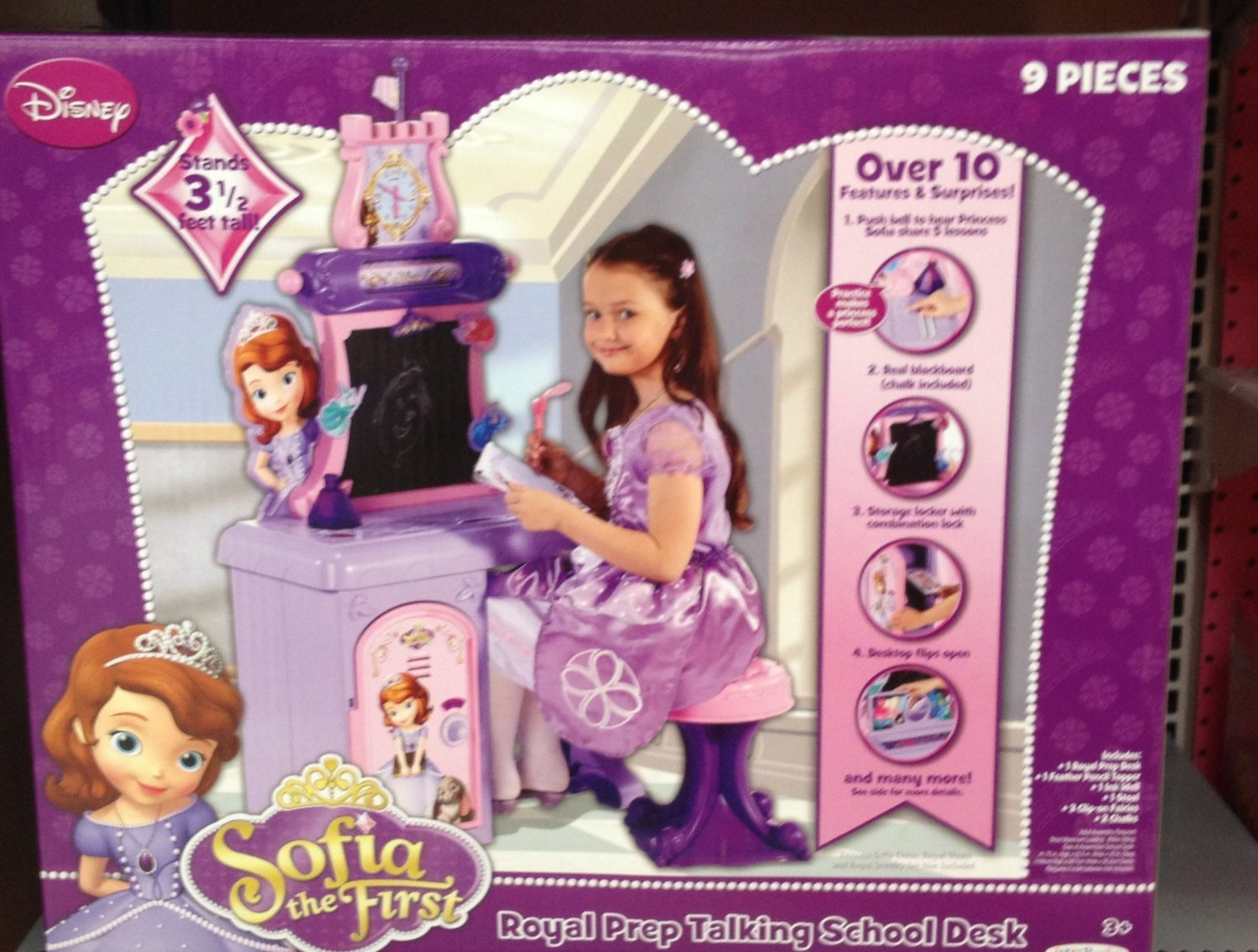 Sofia The First Royal Prep Talking School Desk (Bring playtime to life for your child with the Disney Princess Sofia the First Royal Prep Talking School Desk.)(Manufacturer recommended age: 3 years and up)