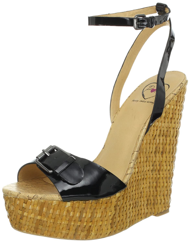 Penny Loves Kenny Women's Brandi Wedge Sandal B009ZRZQ0I 6.5 B(M) US|Black