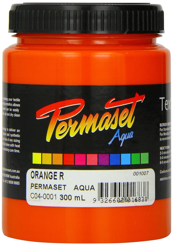 Permaset Aqua 300ml Fabric Printing Ink - Orange Colormaker SR001007