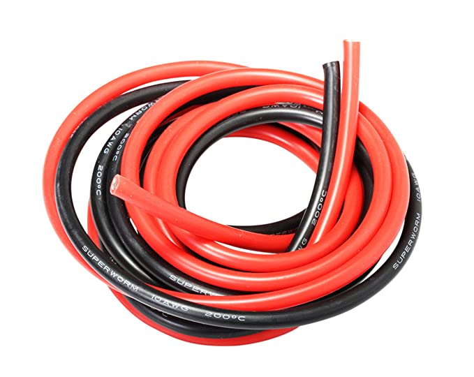 3 opinioni per PsmGoods 10 piedi 10 Gauge AWG flessibile Silicone filo 10 AWG filo del cavo