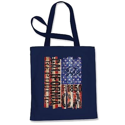 Expression Tees USA Flag California Bear Shopping Tote Bag