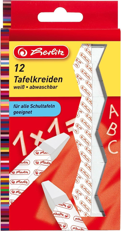 Tafelkreide wei/ß 36 St/ück farbig 12 St/ück Schwamm