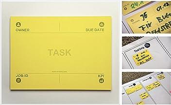 Task Notes: Bedruckte 3M Post-it® Notes: Task, Owner, Due-Date, KPI, Job-ID // Ideal für Meetings & Workshops agiles Task und Projekt Mgmt. (Scrum, Kanban) // Größe 10,2 x 7,4 cm, 400 Stück