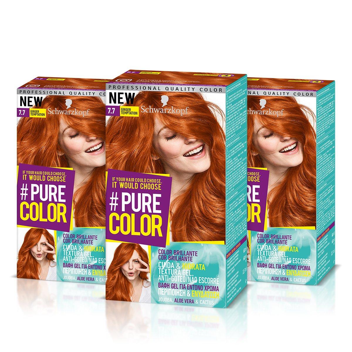 Schwarzkopf Pure Color Permanent Gel Färbung Nr 77 Rothaarige