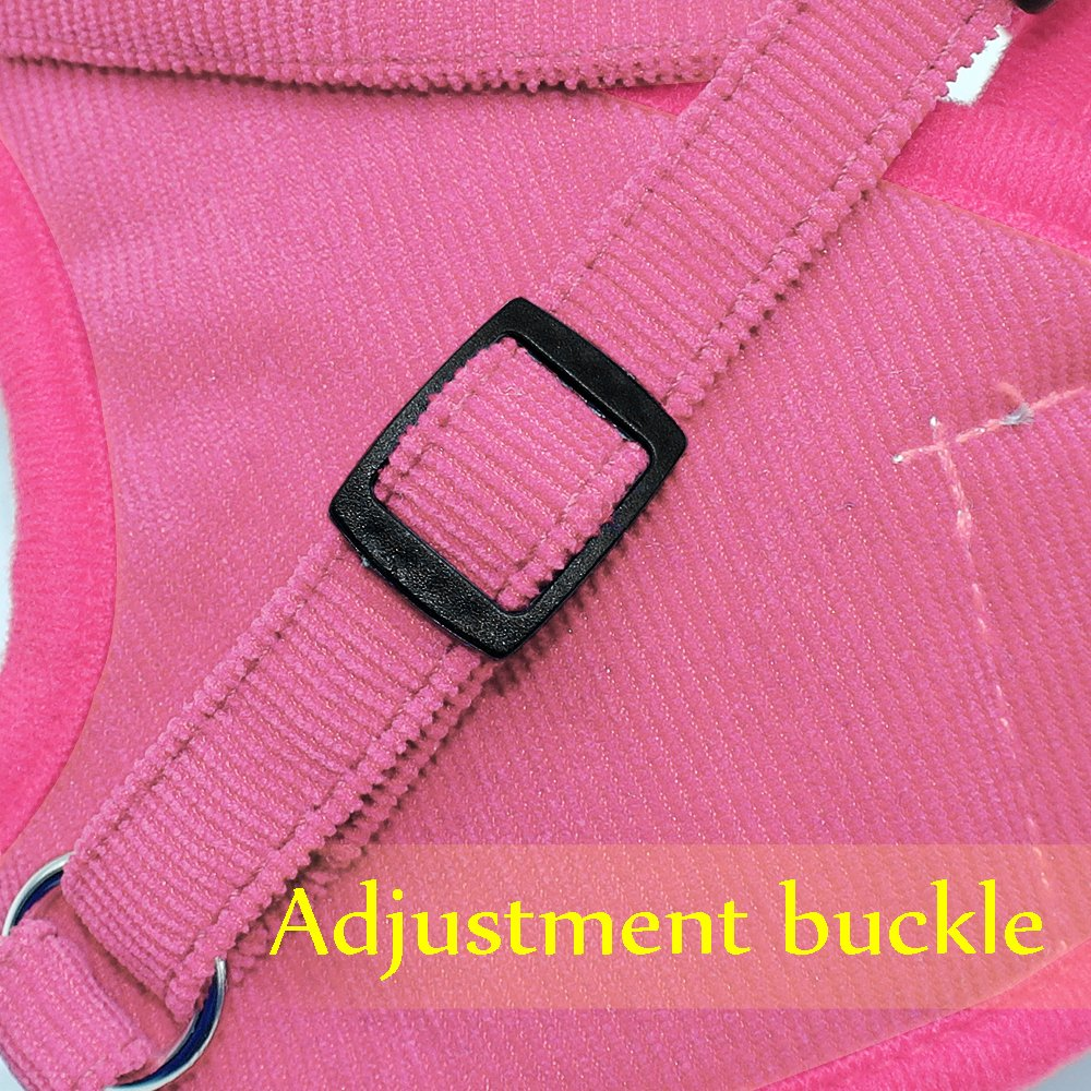 Beirui Reflective Dog Vest & Leash Set - Soft Harness Medium Large Dogs & Cats - Comfort Step-in Mesh Padded Harness 4ft Leash Pet Supplies,Pink Chest 18.5'' by Beirui (Image #4)