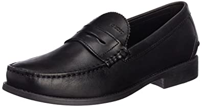 Geox Men's Black Leather Formal Shoes