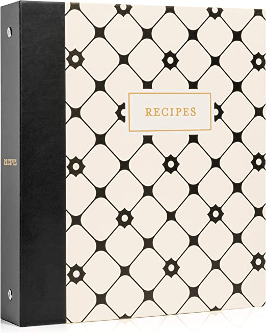 Amazon Com Jot Mark Recipe Binder 3 Ring Organizer With Recipe Cards Full Page Dividers Plastic Page Protectors 8 5 X 9 5 X 2 Home Kitchen