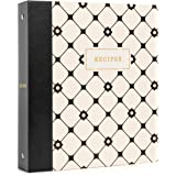 """Jot & Mark Recipe Binder 3 Ring Organizer with Recipe Cards, Full Page Dividers, Plastic Page Protectors - 8.5"""" x 9.5"""" x 2"""""""
